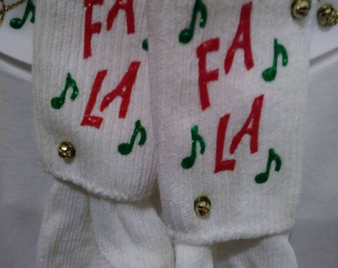 Christmas socks with Mock turtle neck. The Christmas sweater alternative. With matching socks. 90s