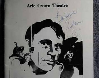 Vintage Playbill Camelot Richard Burton Arie Crown Theater Chicago September 80s Barbara Eden signed One of a kind