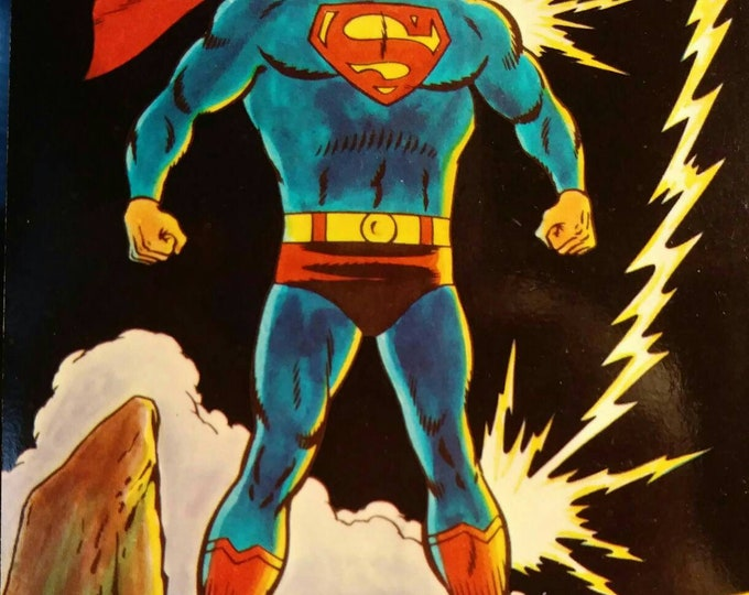 Superman postcards vintage 1972 National Periodical Productions Dexter Press