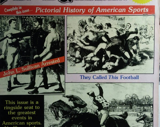 Magazine Police Gazette Vintage 70s.  December issue reprint of late 1800s Greatest Sports activities around the world.
