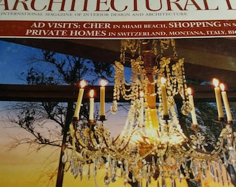 Architectural digest magazine October 90s Cher one of the featured articles