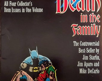 Batman Death in the Family the Controversial best-seller by Jim Starlin Jim Aparo and Mike DeCarlo 80s