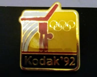 Olympic gymnastics keepsake pin Eastman Kodak at the 92 Olympic vintage