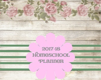 2017-18 Homeschool Planner Calendar Shabby Chic ADORABLE Printable Instant Download