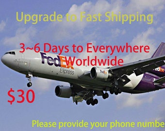 FAST SHIPPING, delivery in 3-6 business days, Please provide the phone number