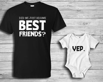 Father's Day / Best friends / Matching shirts / Father daughter / Father son / Matching dad shirt / Gifts for Dad / Custom shirts / Vinyl