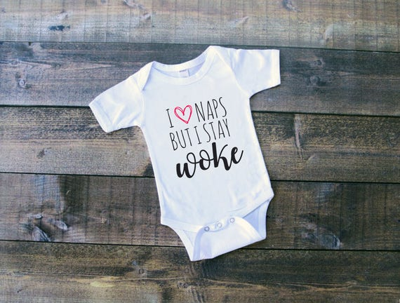 Baby Bodysuit I Love Naps But I Stay Woke Baby Clothes Infant Boys and Girls