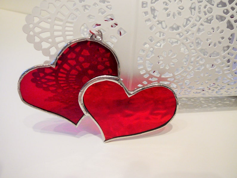 8b85e25431ab Stained glass heart heart glass SunCatcher SunCatcher