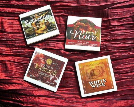Sous-verres, Sous-verres carré, Dessous de verres, Sous-verres en céramique, Sous-verres recycler, Accessoires de bar, Wine coasters