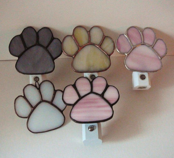 Stained glass cat paw