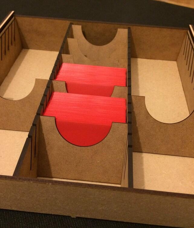 LCG Karte Spiel Storage Box Arkham Horror Spiel der Throne | Etsy