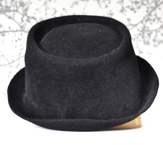 Floppy Pork pie hat men black fur felt  f514d1c6c9e3