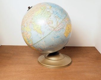 Nautical Authentic World Globe With Table Tripod Stand Globe Decor Map style