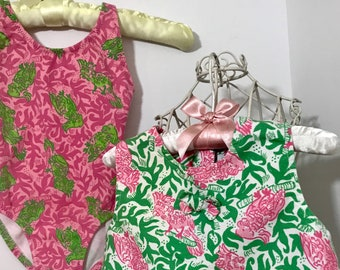 Vintage Lilly Pulitzer Toddler Bathing Suit and Top