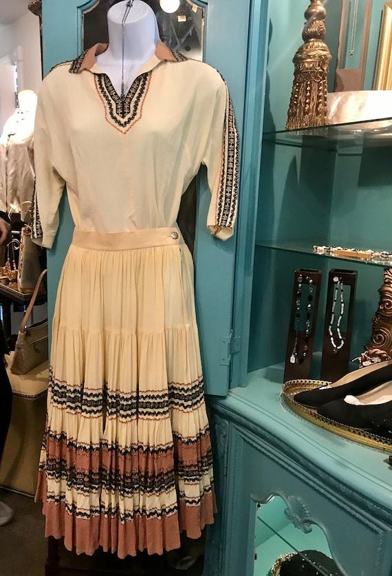 "Vintage 1950 ""Soledad"" Patio Dress Set, SouthWeste"