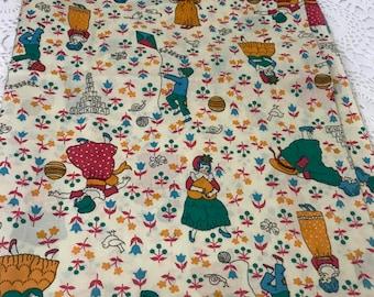 Vintage Children's Print  ABC Fabric