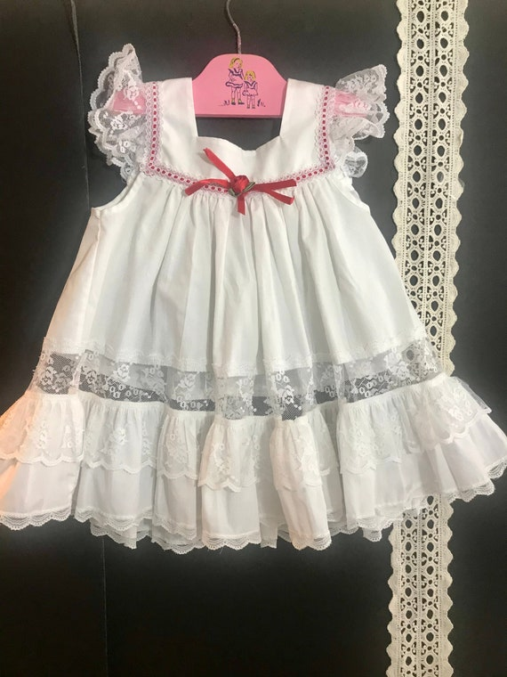 Vintage Bryan Pinafore with lace Toddler Pinafore