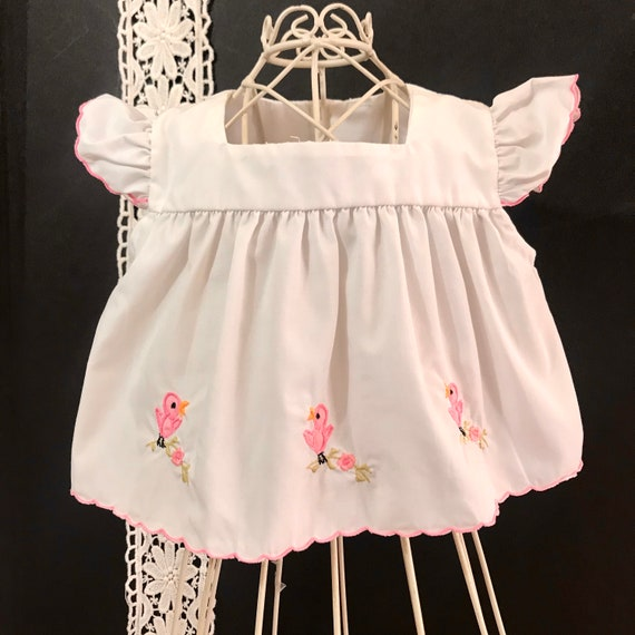 Vintage Swing Top / Pinafore  Dress Embroidered Pi