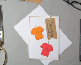 Business Thank You Card - Small Business Cards - Small Business Tags - T Shirt Tags - Card Tags - Handmade Seller Cards - Thank You Tags