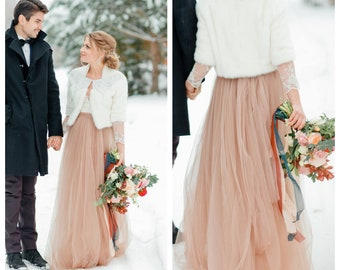 a98d90172089 5 layers Blush Wedding Tulle Skirt Long Tulle Skirt Nude Wedding Skirt  Women Tulle Skirt61 color Floor Length Wedding