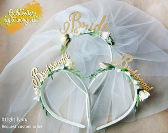 Bridesmaid Headband  Bridal Shower Party Headband Hen party Headband Bachelorette Headbands Bachelorette Tiara Bridesmaid Hen