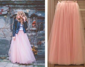862ef358b3 114 Colors Tulle Skirt, Tulle Skirt Bridal, Women Tulle Skirt Pink, Nude,  Red, Grey, Fuchsia, Wedding Blush Tulle Skirt