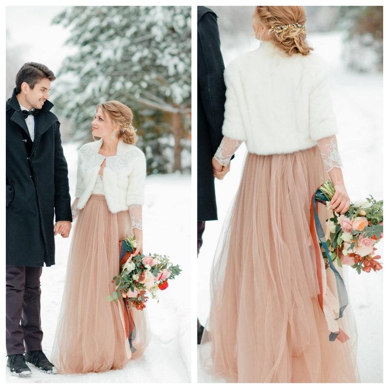03983cb72929 5 layers Blush Wedding Tulle Skirt Long Tulle Skirt Nude | Etsy