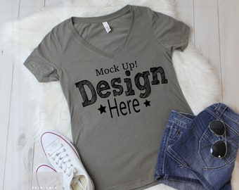 Download Free Next Level Ladies' Ideal T-Shirt Warm Gray 1540 T Shirt Mockup, Shirt Mockup, Mock Up, T Shirt MockUp, Outfit MockUp, Flat Lay Mockup, JPG PSD Template