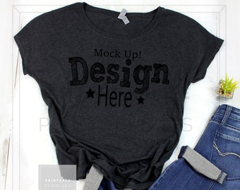 Download Free Next Level Ladies Triblend Dolman 6760 Vintage Black T-shirt Mockup,T-Shirt Mockup, Mock Up,T Shirt MockUp,Outfit MockUp, Flat Lay Mockup PSD Template