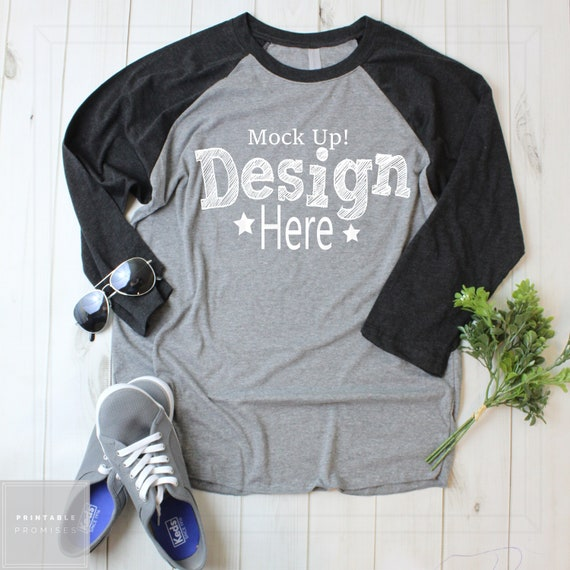 Next Level Raglan T Shirt Mockup Tshirt Mockup Mock Upt Etsy