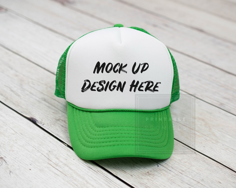 d8df3bbae17c9 Kelly Green Trucker Hat Mock-upMock Up Baseball Hat Blank