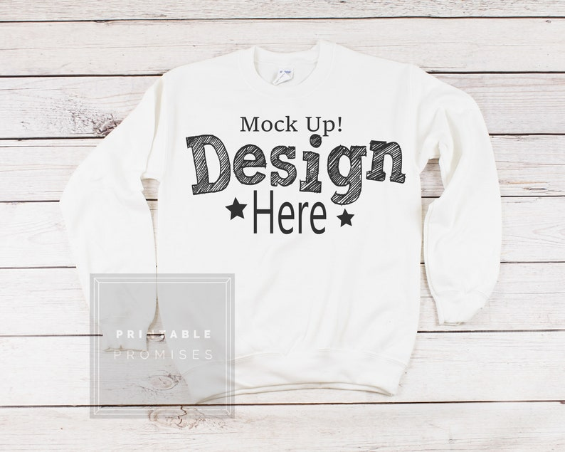 f2a32f07 Sweatshirt Mockup White Crew Neck Sweatshirt Display | Etsy