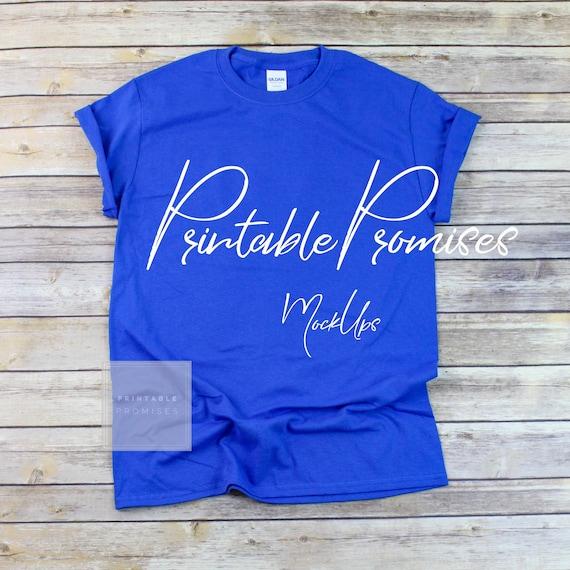Gildan 500 Unisex Royal Blue T Shirt Mockup Gildan Mock Up Etsy