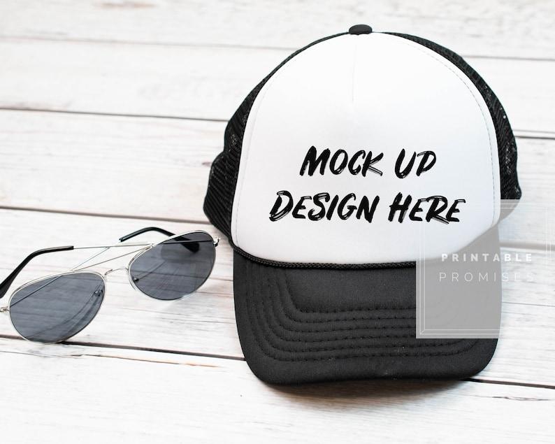 3fff9ad752 Trucker Hat Mock-up Mock Up Baseball Hat Blank White Hat Cap