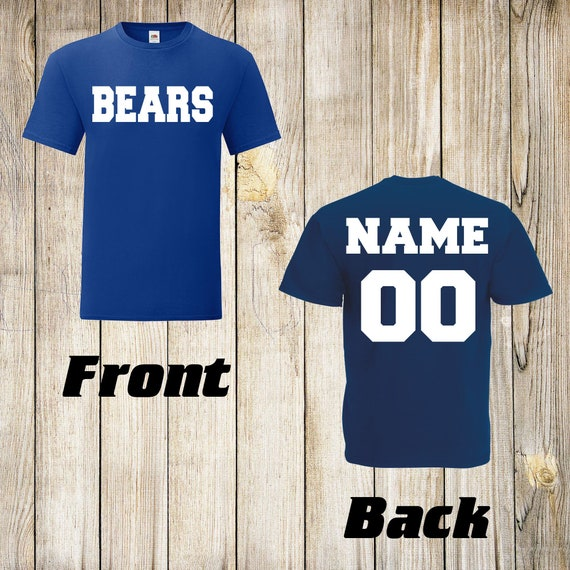 Bears Custom Name /& Number Personalized Youth Jersey T-shirt