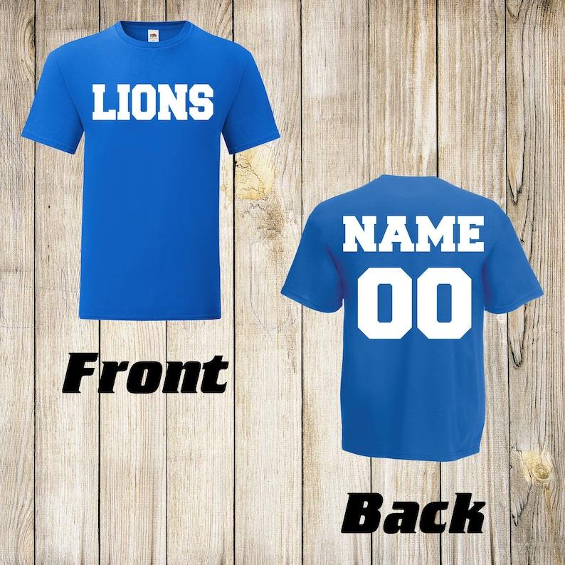 LIONS Personalized Shirt | NFL custom shirt Football Jersey t-shirt