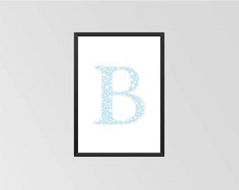 The letter B - Print (Bubbles)