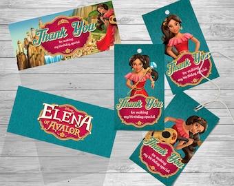 Elena Of Avalor Birthday Favor Tags Thank You Princess Party Printables Invitation
