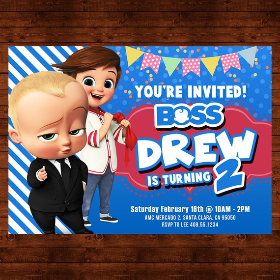 picture about Boss Baby Printable named Manager Child Birthday Invitation, Manager Child Celebration Invite, Manager