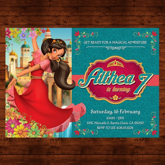 Elena Of Avalor Birthday Invitation Printable