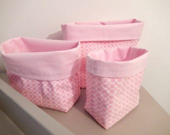 Set of 3 empty pockets roses flowers