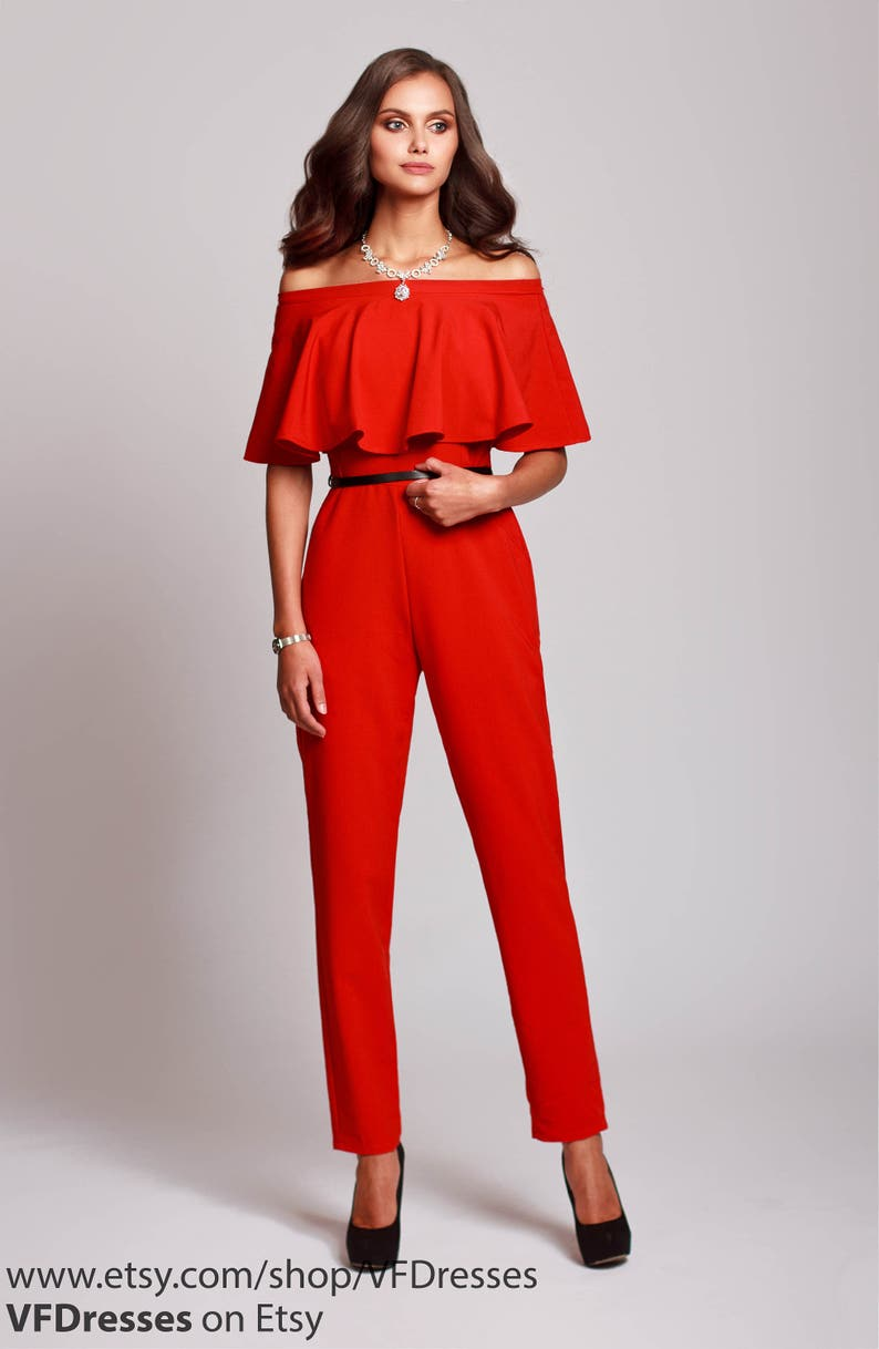 3e437180f7a1 Red jumpsuit womens jumpsuit wedding jumpsuit festive