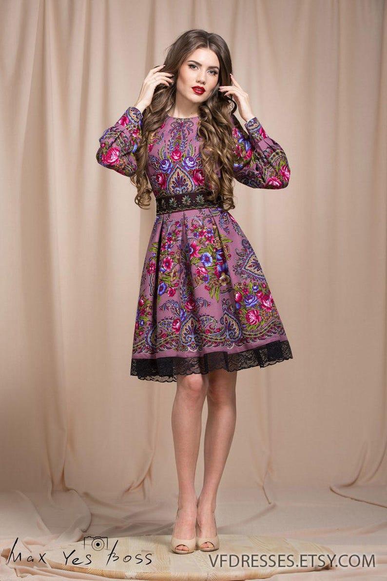 6b0b9f0daa5 Lilac summer dress Floral Boho dress floral gypsy Dress