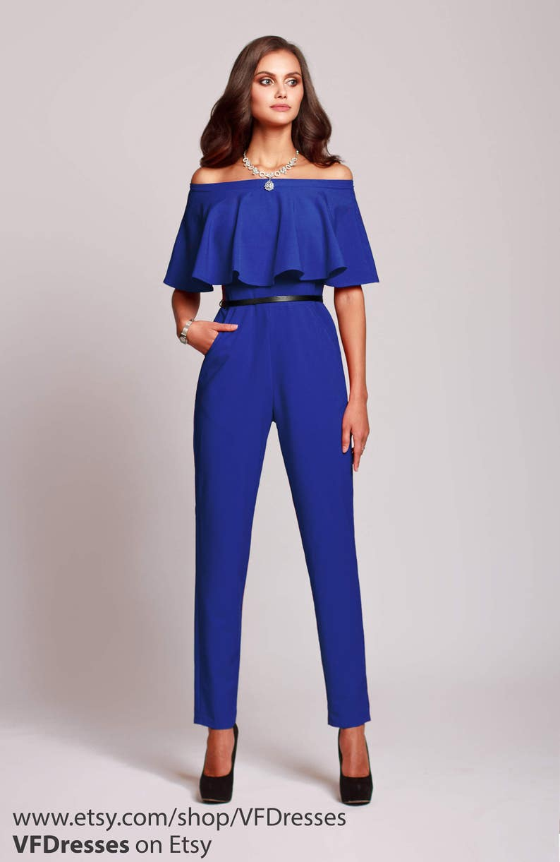 618975f271f1 Blue jumpsuit womens jumpsuit wedding jumpsuit festive