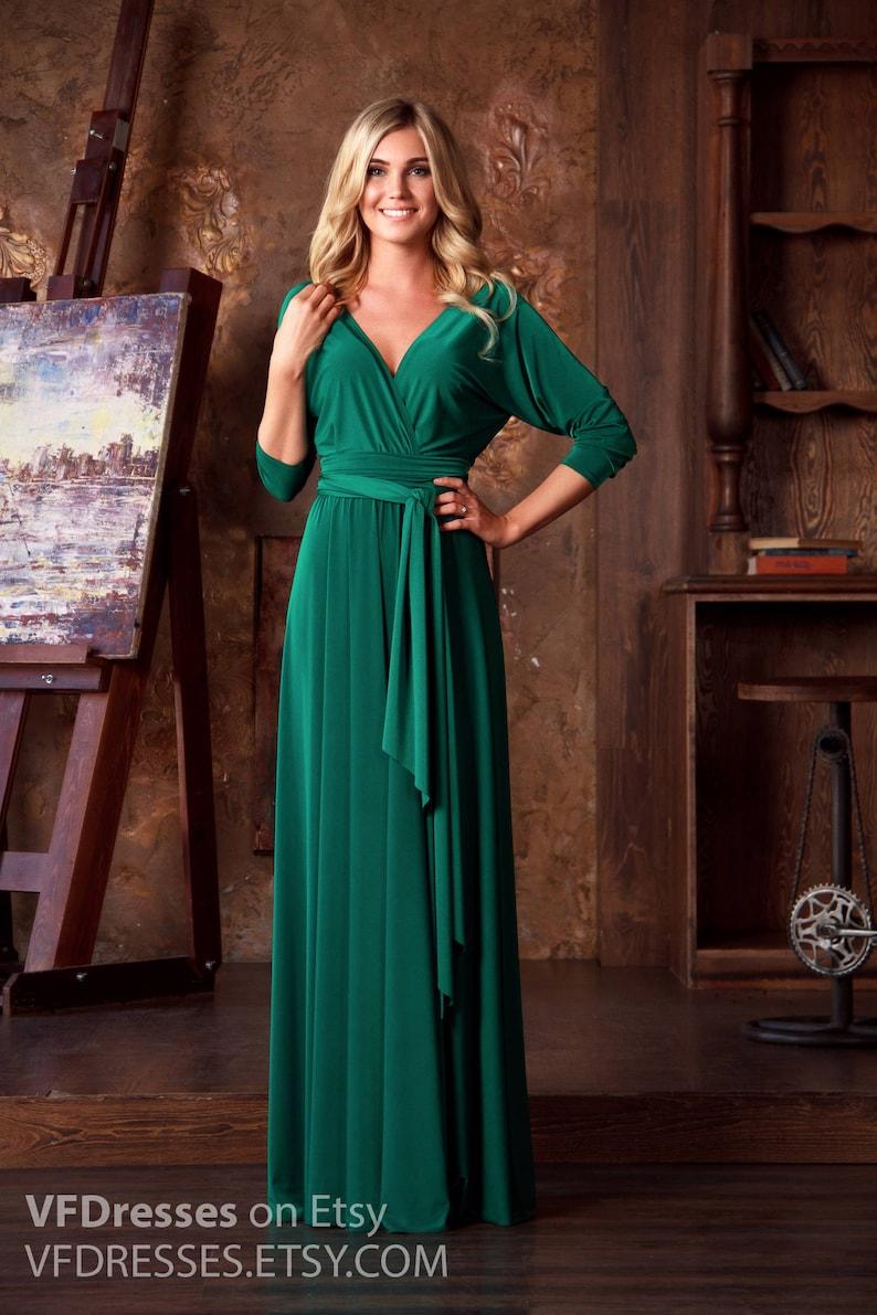f57727f301 Emerald Green Maxi Dress formal evening dress long evening