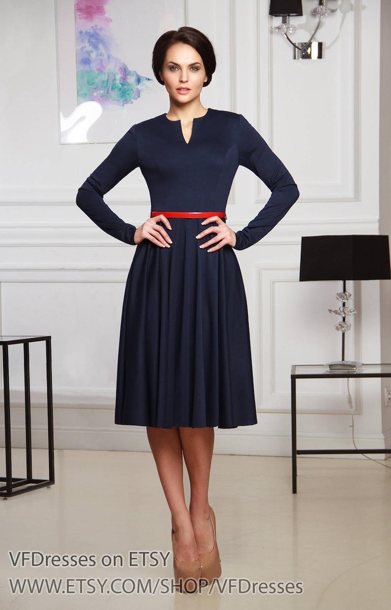 3f90ebe3bb Sukienka Midi casual sukienka marynarki sukienka Dżersejowa