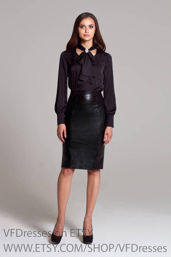 90b0154c70fd Black pencil skirt leather skirt women skirts black skirt | Etsy