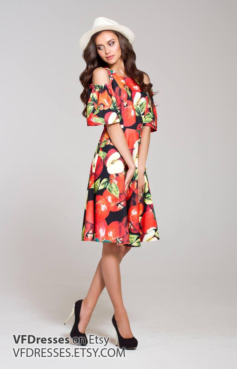 9d43f47028 Short floral dress summer dress floral midi dress red