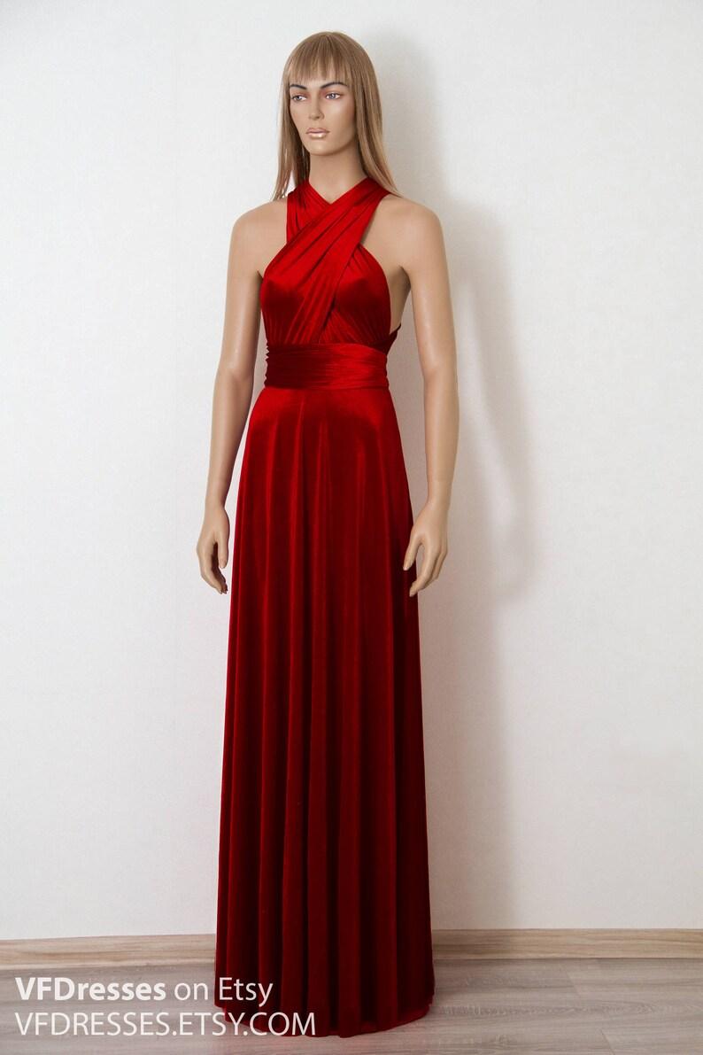 af25a59f29eb Vestito di Infinity abito damigella d onore Borgogna