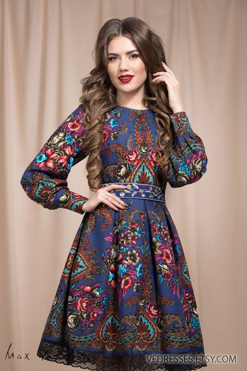 d593921000c7 Navy Boho dress Floral summer dress floral gypsy Dress
